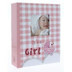 Dětské fotoalbum 10x15/200 foto NINO růžové