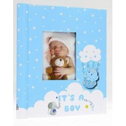 Dětské samolepící fotoalbum 23x28/40s ELEPHANT modré