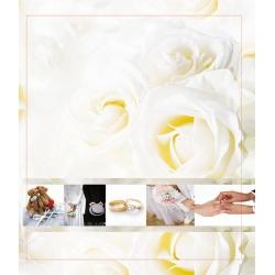 Svadobný fotoalbum 13x18/100 foto WEDDING biele ruže