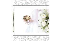 Svadobný fotoalbum 13x18/100 foto WEDDING nevesta s kyticou