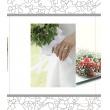 Svadobný fotoalbum 13x18/100 foto WEDDING ruky s kyticou