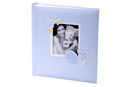 Detský fotoalbum 10x15/200 foto HONEY modrý