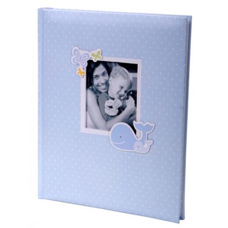 Luxusný detský samolepiaci fotoalbum 24x29/40s HONEY modrý