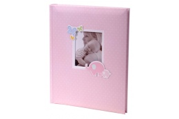 Luxusný detský samolepiaci fotoalbum 24x29/40s HONEY ružový