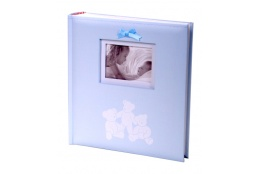 Detský fotoalbum 10x15/200 foto LUCKY BEARS modrý