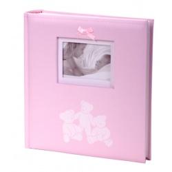 Detský fotoalbum 10x15/200 foto LUCKY BEARS ružový