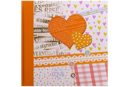 Fotoalbum na rožky 30x30/100 strán HAPPY NEWS oranžový