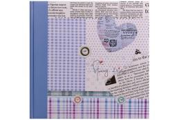 Fotoalbum na rožky 30x30/100 strán HAPPY NEWS tm. modrý