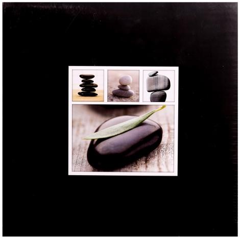 Fotoalbum na rožky 30x30/100s. STONES čierny