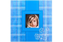 Fotoalbum na rožky 30x30/100 strán FRESH COLOUR modrý