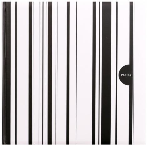 Fotoalbum na rožky COLOR STRIPES 30x30/100s. čierny