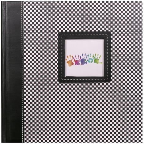 Fotoalbum na rožky 30x30/100 strán ELEMENTS čierny