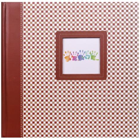 Fotoalbum na rožky 30x30/100 strán ELEMENTS hnedý
