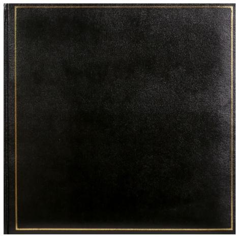 Klasický fotoalbum na rožky 35x35cm/100s. TRADITION čierny