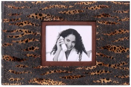 Fotoalbum na růžky 25x16/60s. SAFARI tmavé