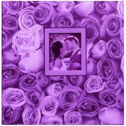 Fotoalbum na rožky 30x30/100s. ANYWHERE ROSES fialový