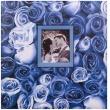 Fotoalbum na rožky 30x30/100s. ANYWHERE ROSES modrý