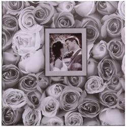 Fotoalbum na rožky 30x30/100s. ANYWHERE ROSES šedý