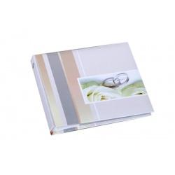 Svadobný fotoalbum 13x18/50foto popis WEDDING prstene