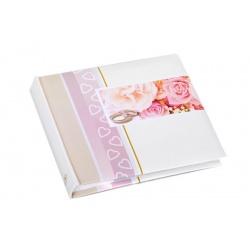 Svadobný fotoalbum 13x18/50foto popis WEDDING ruže