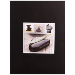 Fotoalbum 13x18/200 STONES čierny