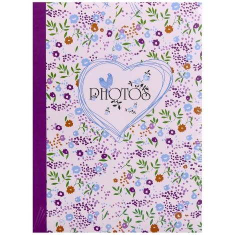 Fotoalbum 10x15/300 fotiek s popisom FIELD of FLOWERS fialový