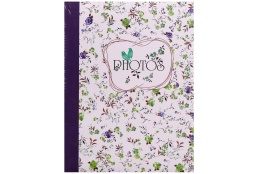 Fotoalbum 10x15/300 fotiek s popisom FIELD of FLOWERS modrý