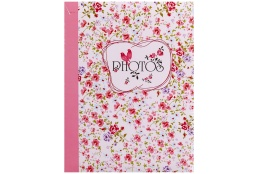Fotoalbum 10x15/300 foto s popisom FIELD of FLOWERS ružový