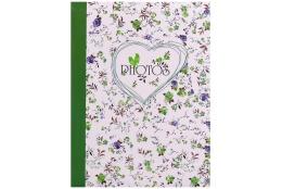 Fotoalbum 10x15/300 fotiek s popisom FIELD of FLOWERS zelený