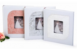 Svadobný fotoalbum na rožky JUST MARRIED biely