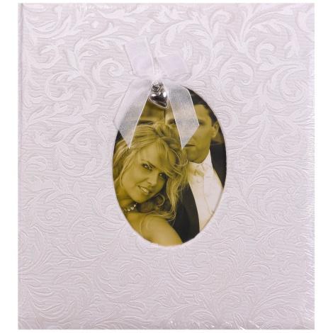 svadobný fotoalbum na rožky GRACE strieborný