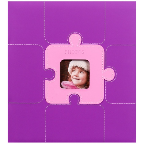 Fotoalbum na rožky PUZZLE 29x32/60 fialový