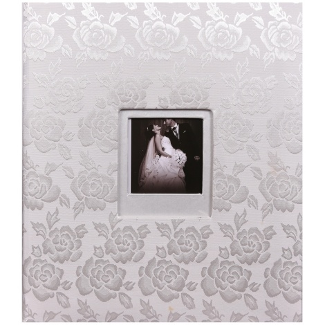Svadobný fotoalbum na rožky WEDDING ROSES strieborný