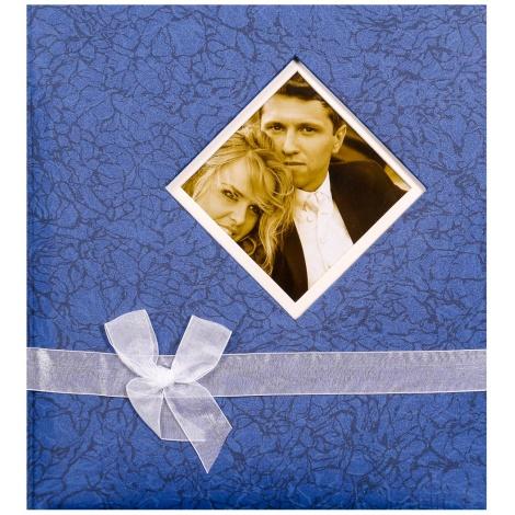 Svadobný fotoalbum na rožky BLEEDING HEART modrý