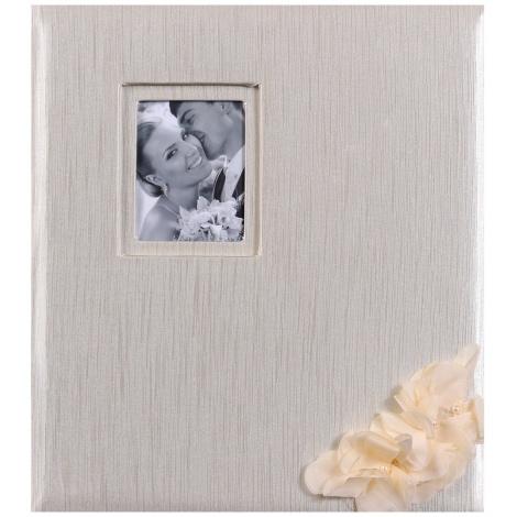Svadobný fotoalbum na rožky WEDDING FLOWERS zlatý