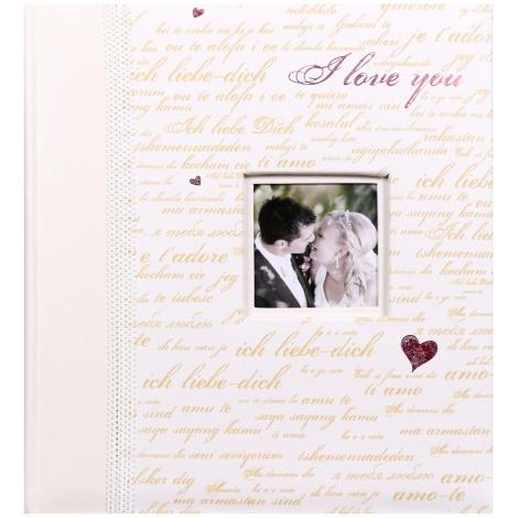 Svadobný fotoalbum na rožky 29x32/60s. MODERN LOVE zlatý text
