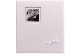 Svadobný fotoalbum na rožky WEDDING  KISS  29x32/60s. biely