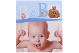 Detský fotoalbum na rožky BABY VITAL modrý