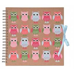 Scrapbook Fotoalbum na špirále s možnosťou tvorivej úpravy Owls