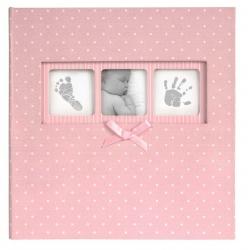 Ružový detský fotoalbum Baby Polka Dot 10x15/200F