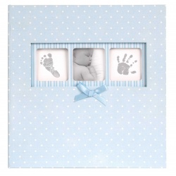 Modrý detský fotoalbum Baby Polka Dot 10x15/200F