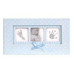 Modrý detský fotoalbum 10x15/100f BABY POLKA DOT