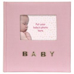 Ružový detský fotoalbum Baby 10x15/100 foto popis