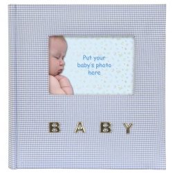Modrý detský fotoalbum 10x15/100 BABY Gingham