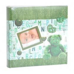 Detský fotoalbum 10x15/200 foto BABY BOOK zelený