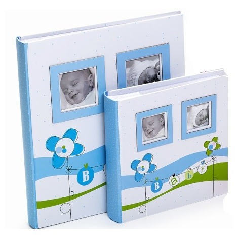 Detský fotoalbum 10x15/200 foto LUCKY BABY modrý
