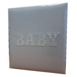 Detský fotoalbum na rožky 29x32/60s. BABYWORLD modrý