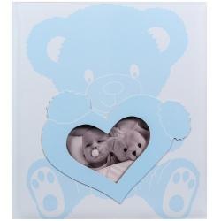 Detský fotoalbum na rožky BABY WONDERLAND modrý