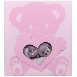 Detský fotoalbum na rožky BABY WONDERLAND ružový