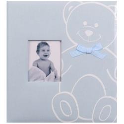 Detský fotoalbum na rožky NEW BABY BEAR modrý